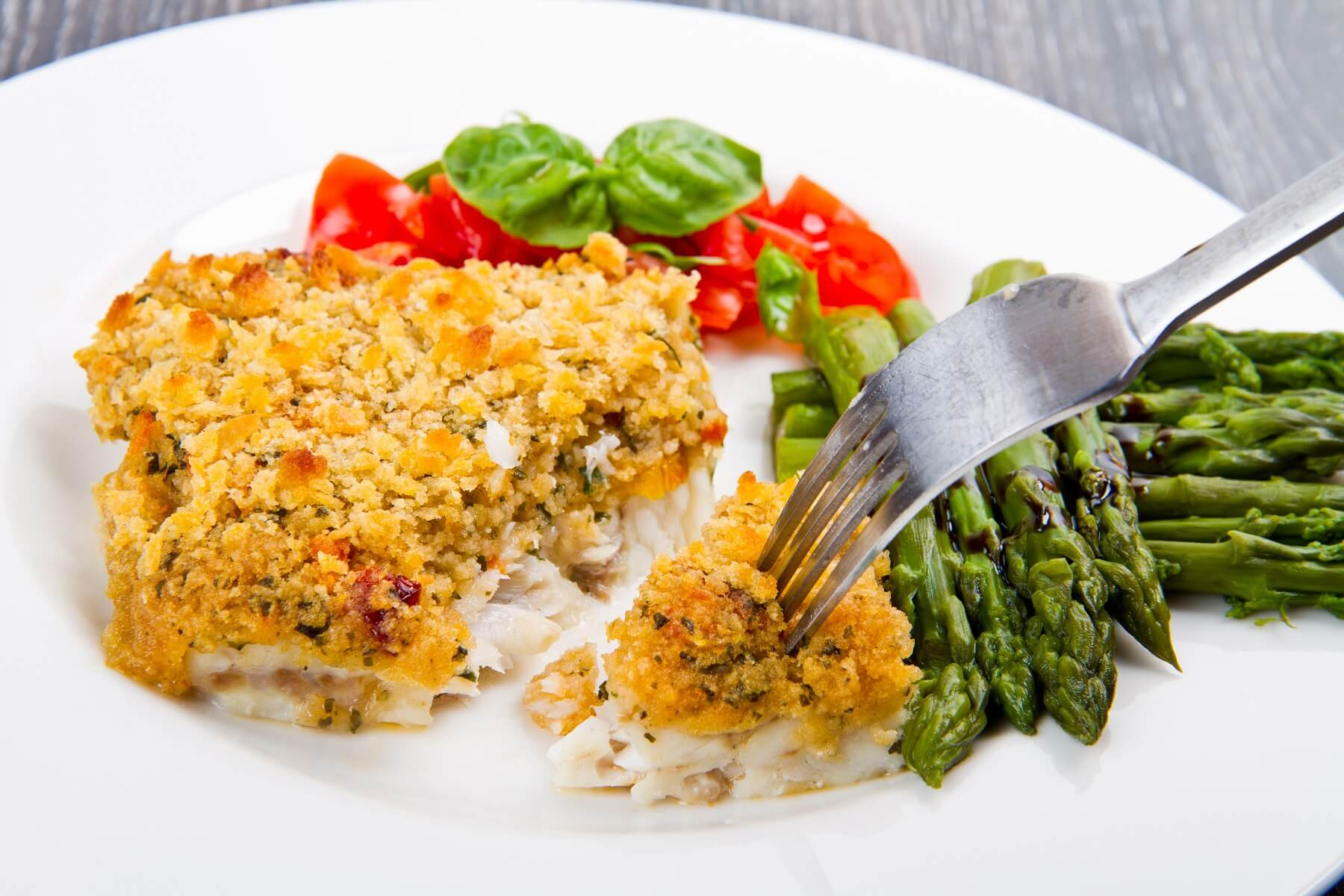 Crusted Cod with Lemon and Parsley Recipe