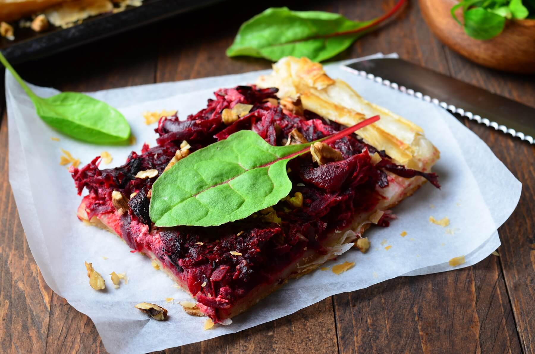 Beetroot and Onion Tart Recipe