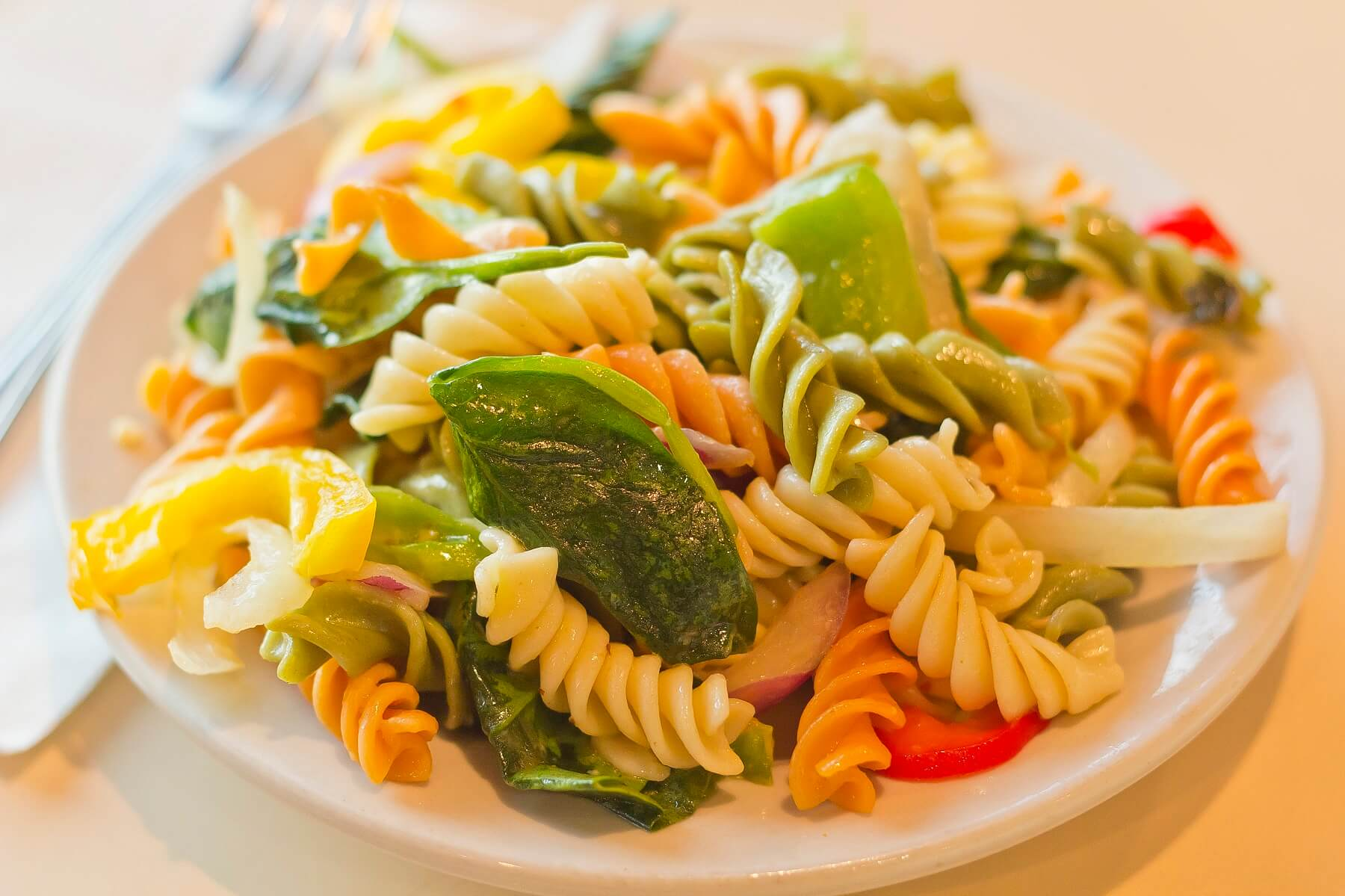 Squash and Spinach Fusilli