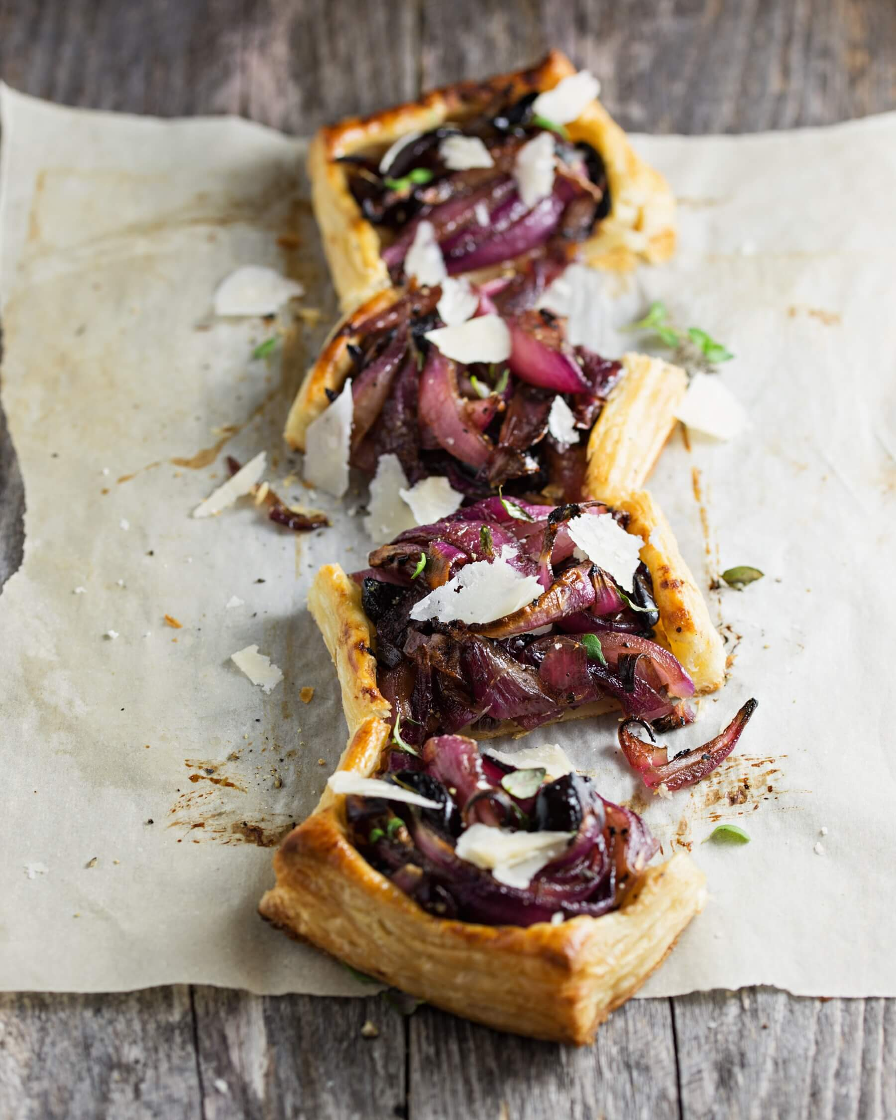Cheddar and Red Onion Pastries Recipe