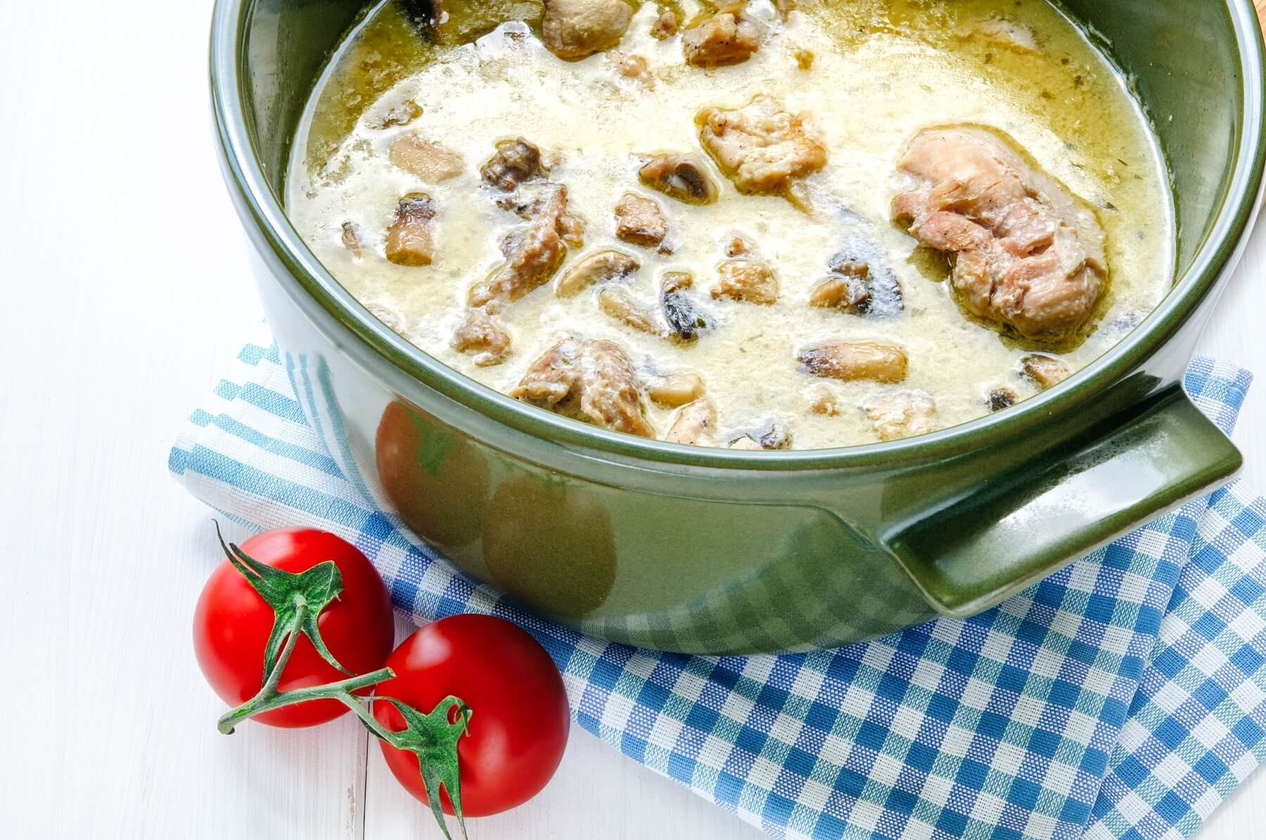 Lamb with Mushroom and Cabbage Fricassee Recipe
