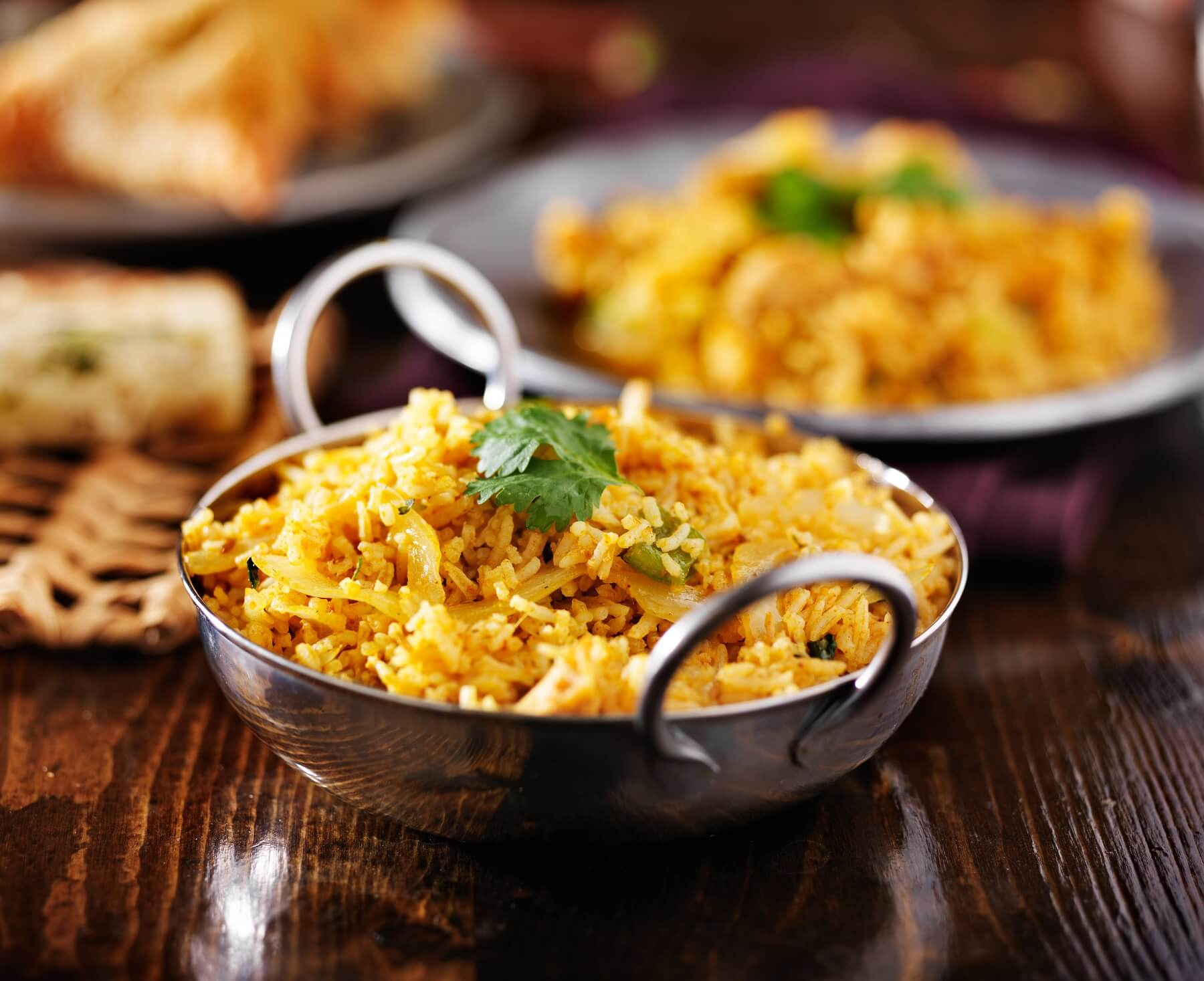 South African Eggplant Biryani