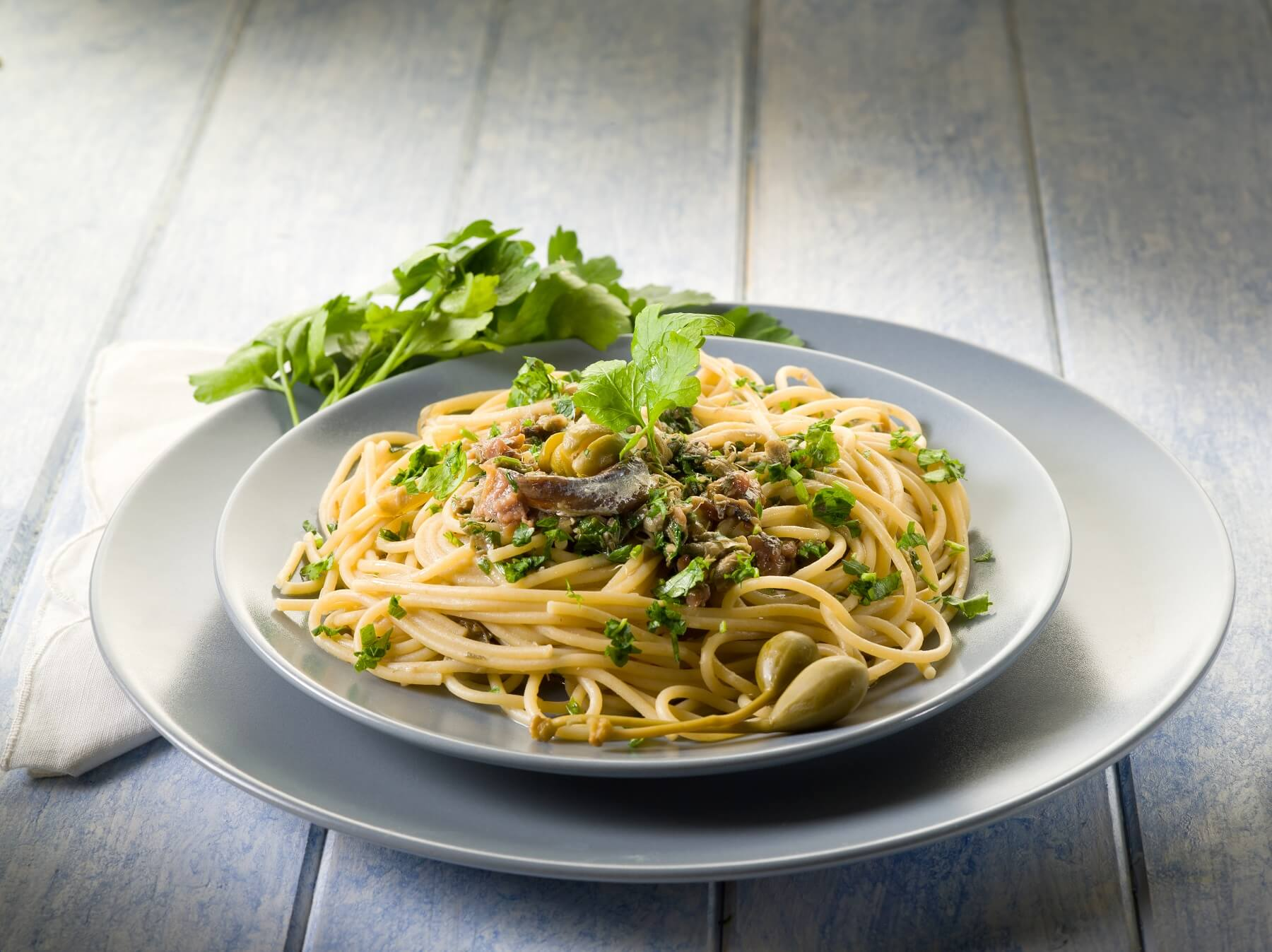 Spaghetti with Kale and Anchovies Recipe