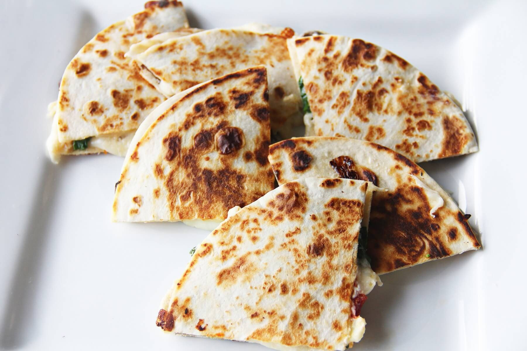 Spinach and Goats' Cheese Picnic Quesadillas Recipe