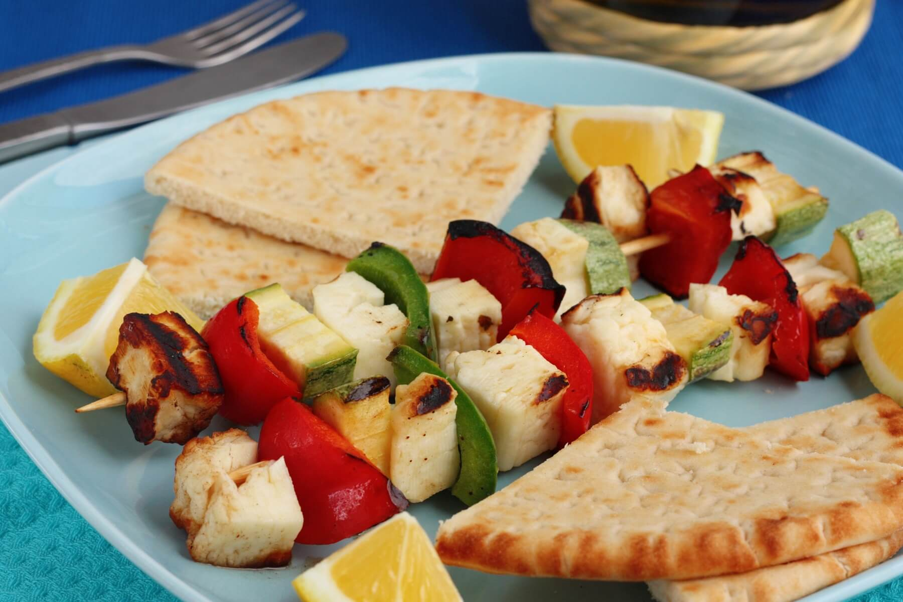 Halloumi Skewers with Salsa Verde Recipe