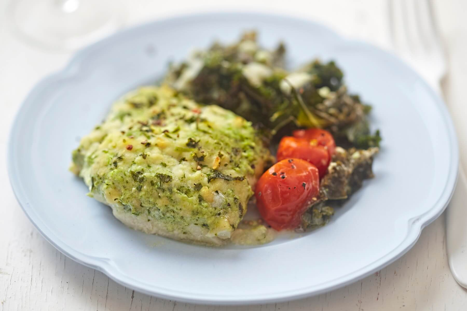 Roast Cod with Parsley Crust Recipe