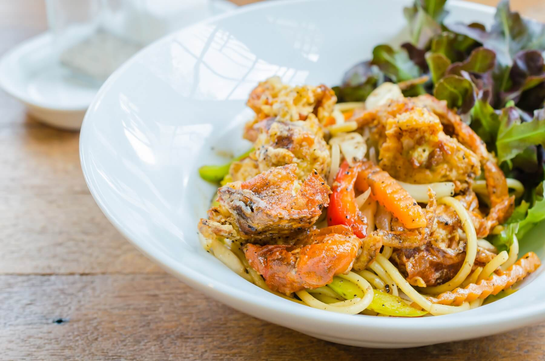 Courgette & Crab Linguine Recipe