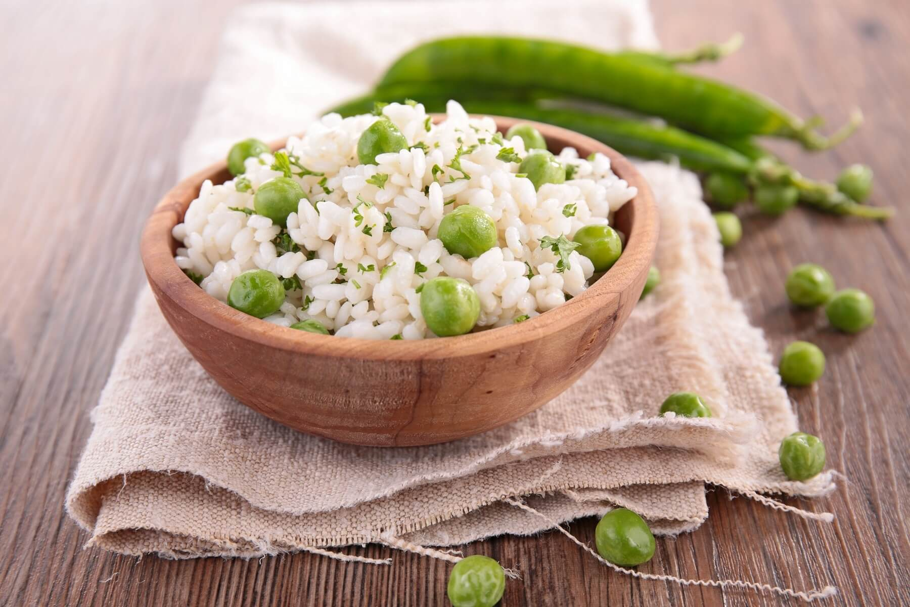 Pea and Goats' Cheese Risotto Recipe
