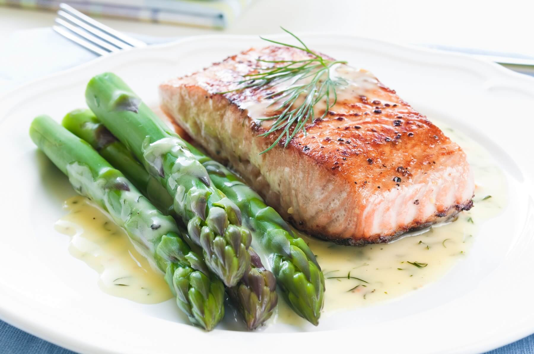Salmon, Asparagus, and Olive Paste Recipe