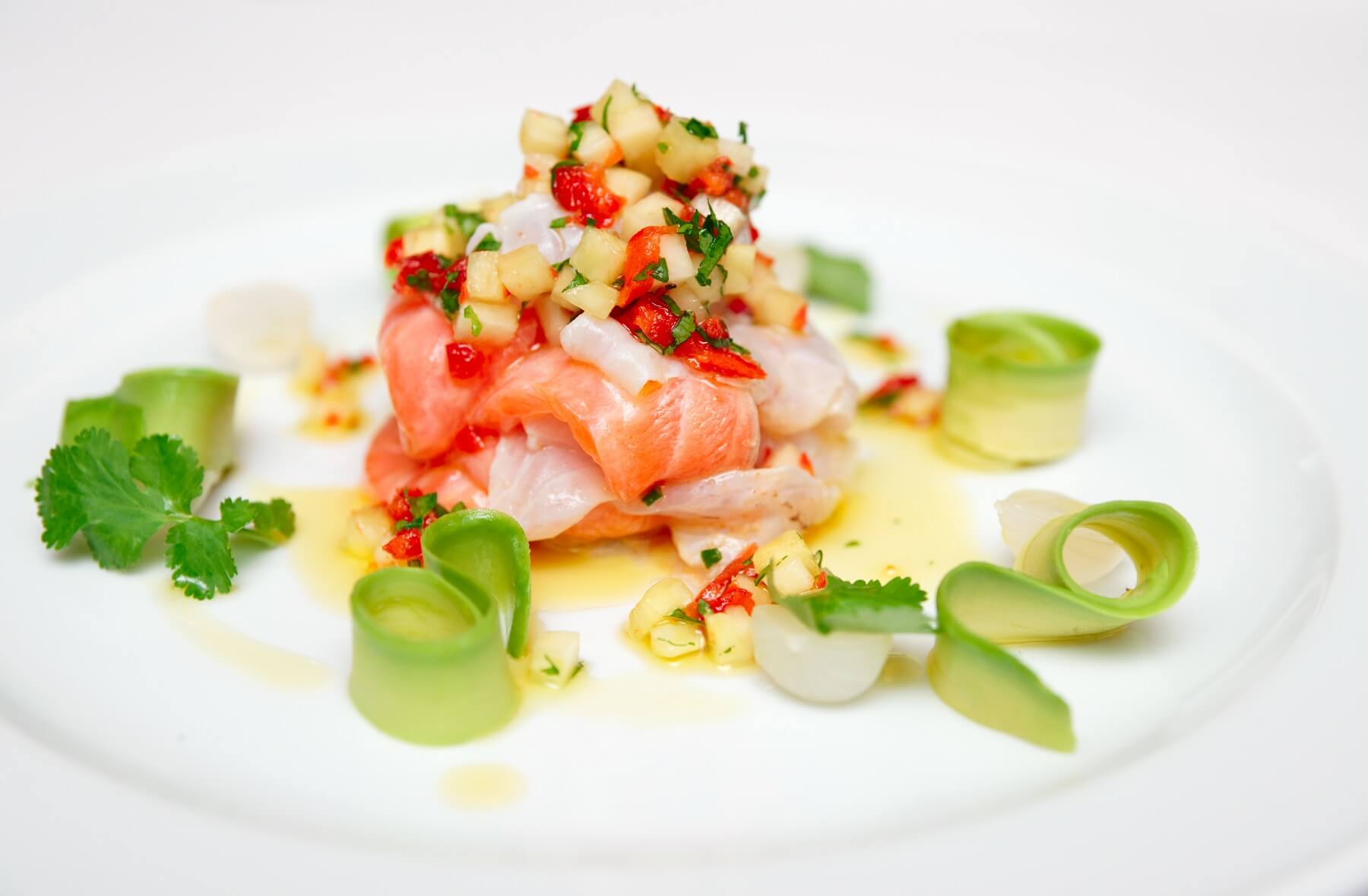 Salmon and Sea Bass Ceviche Recipe