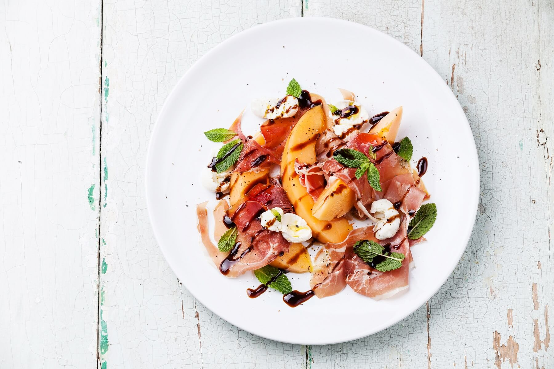 Peach Parma Ham Salad Recipe