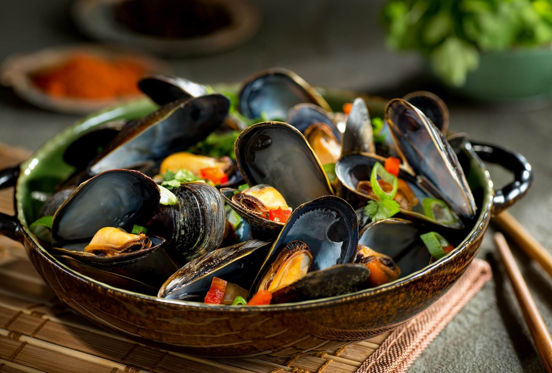 Lychee and Coconut Mussels Recipe