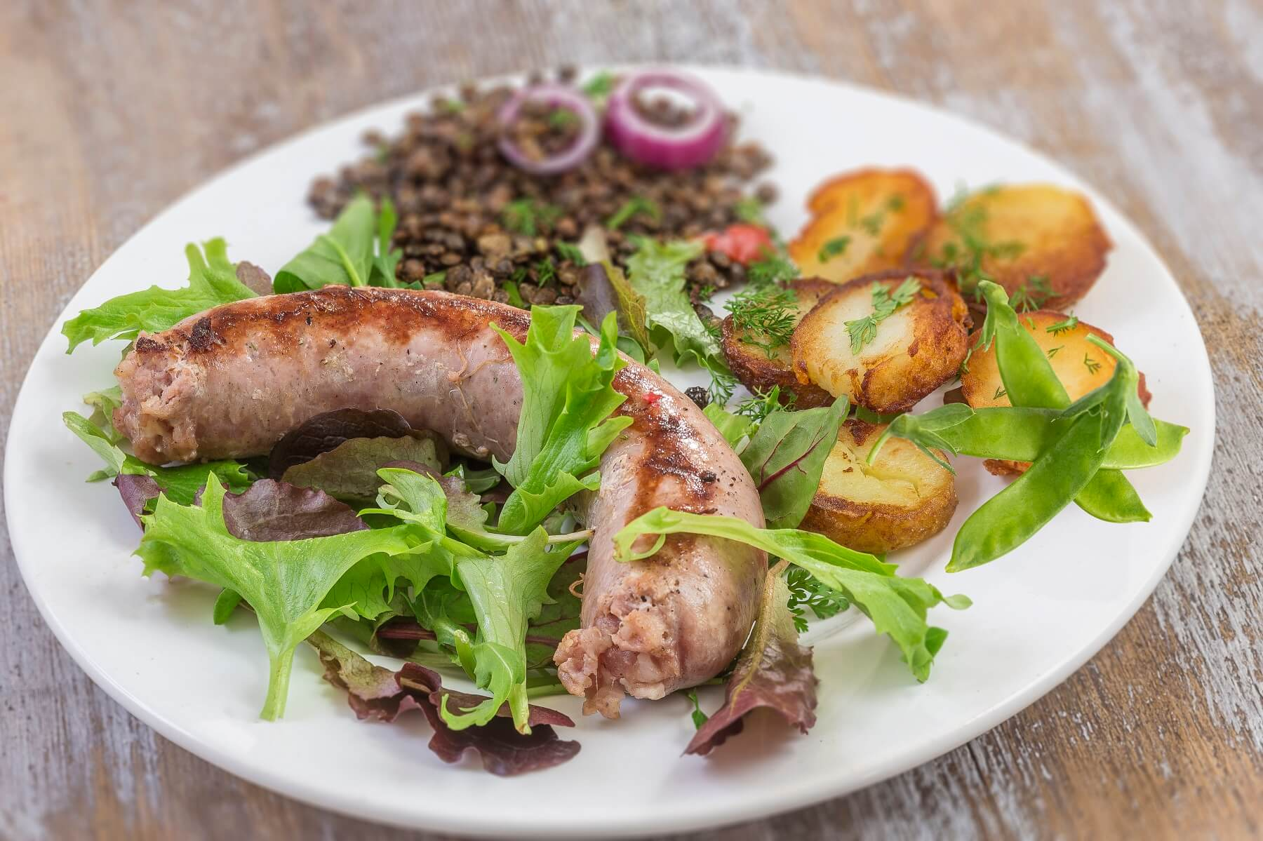 Lentil Salad and Toulouse Sausage Recipe