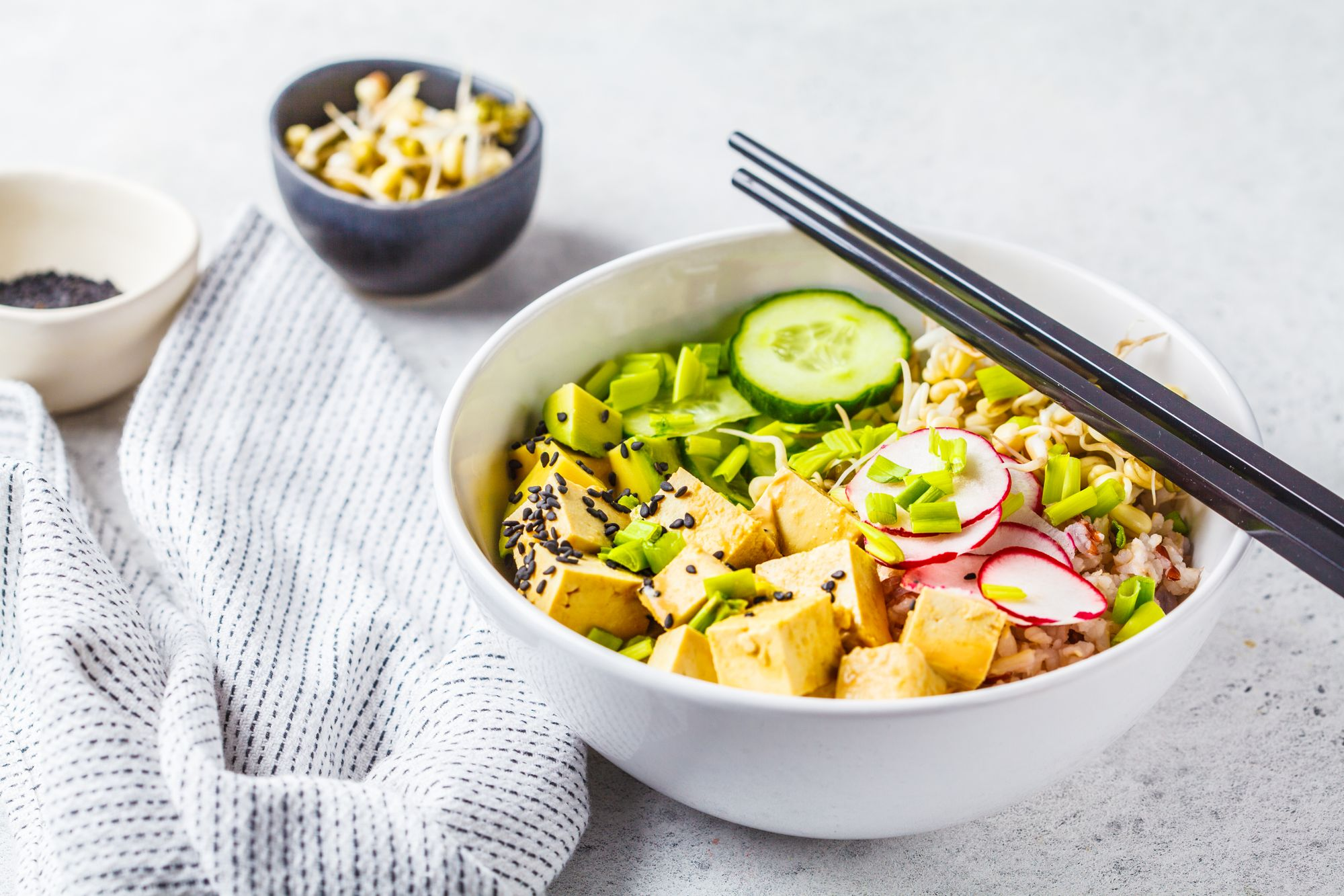 Ginger, Radish and Avocado Rice Bowl