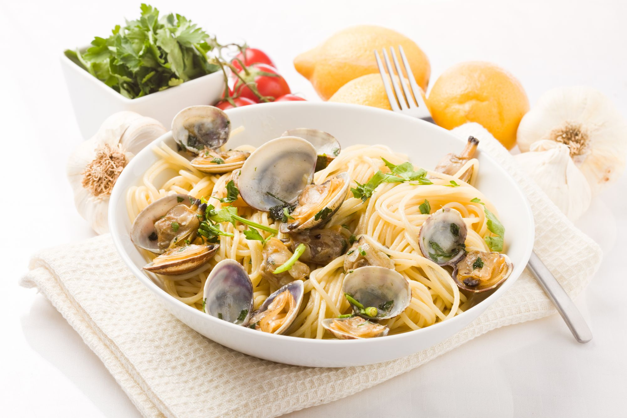 Garlic Clams Tagliatelle