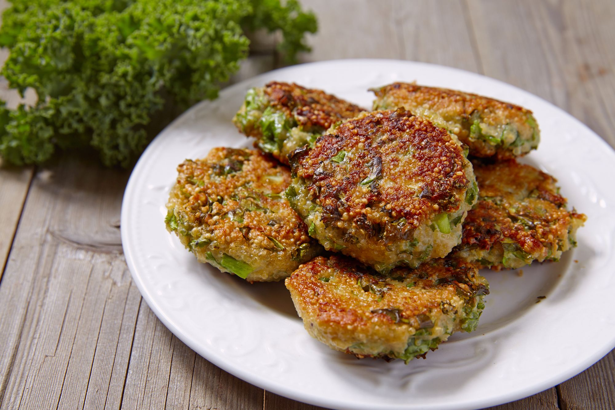 Kale, Pea, and Ricotta Fritters
