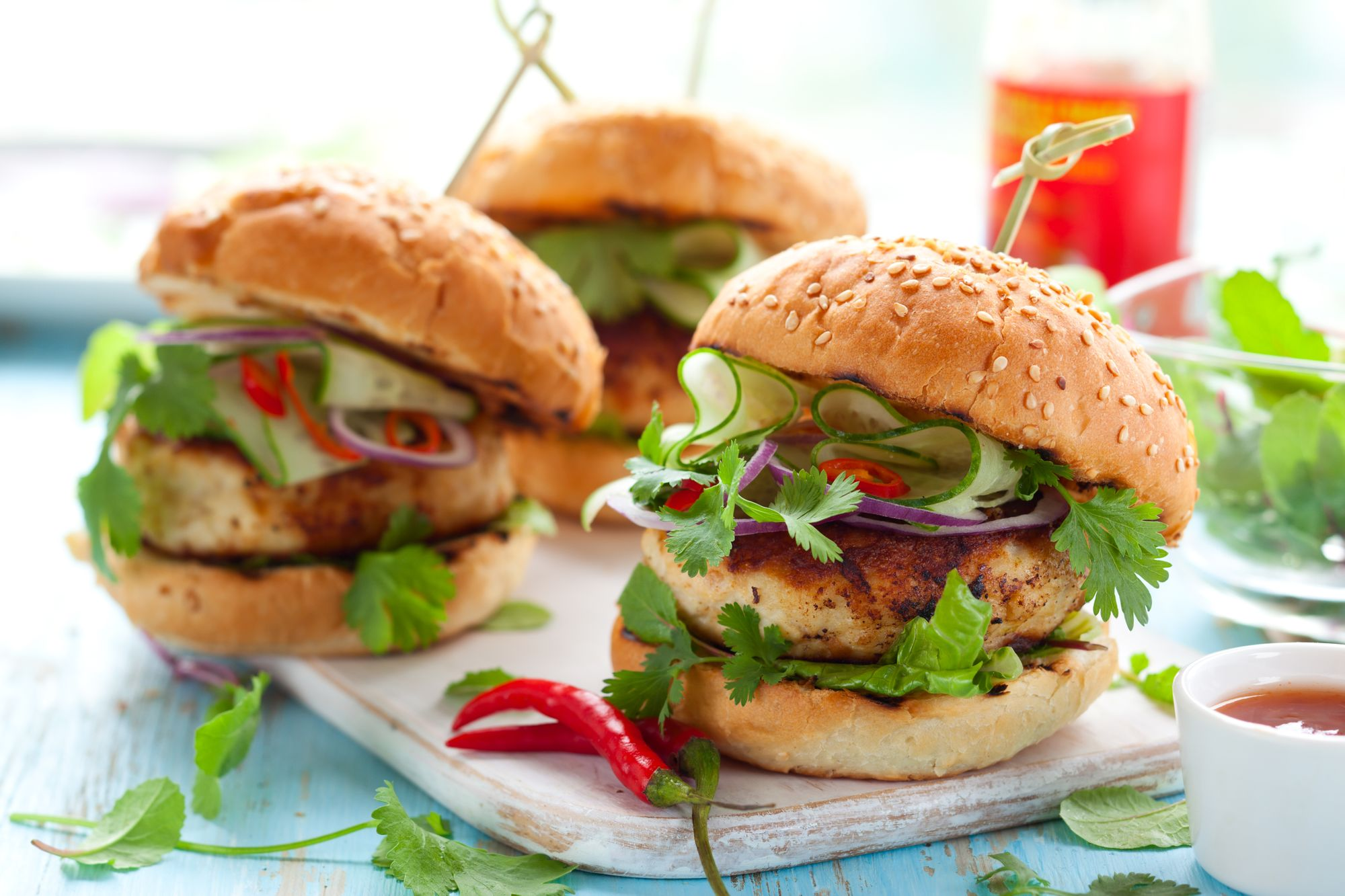 Thai Barbecue Burgers