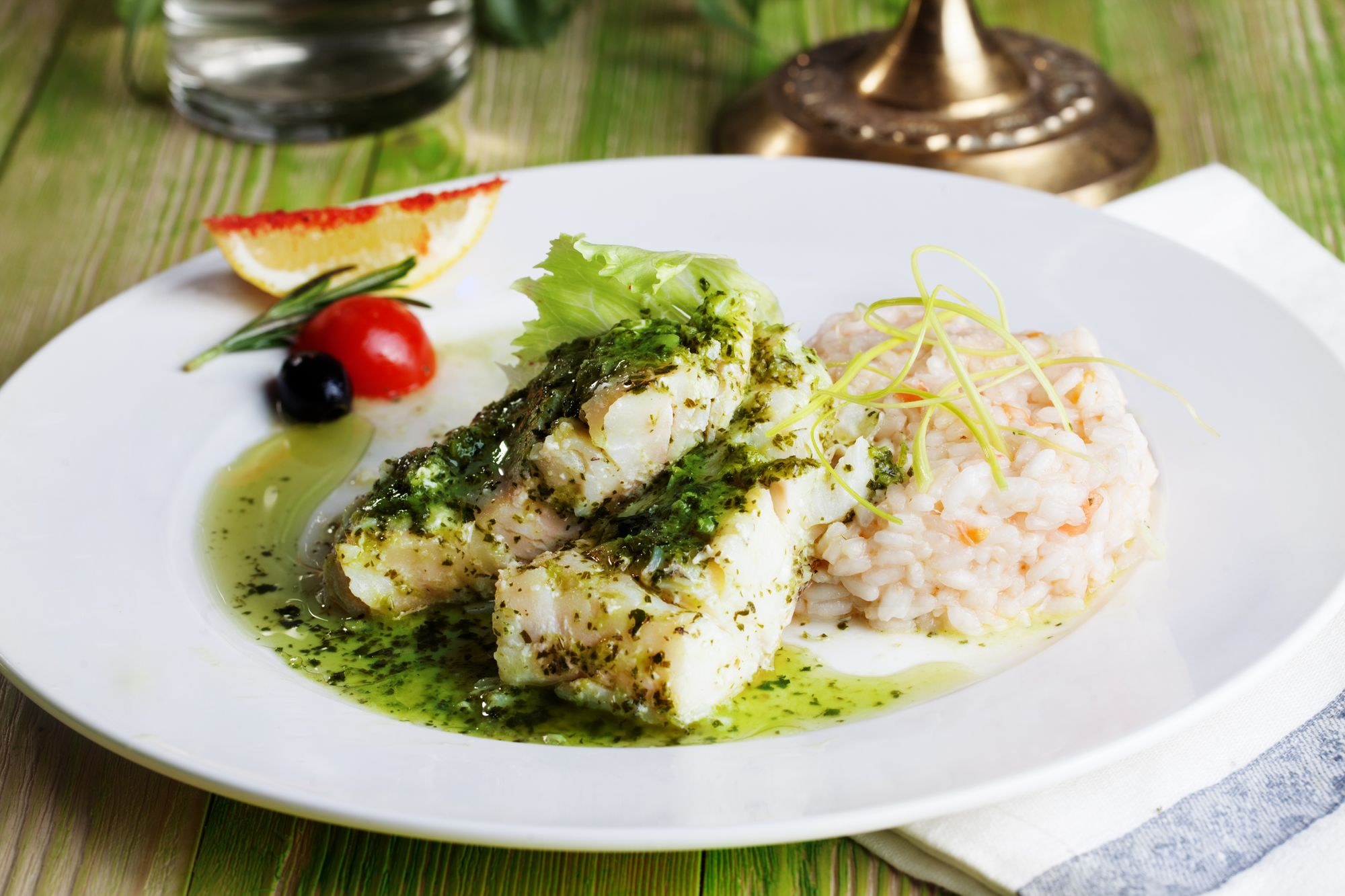Olive and Pesto Crusted Fish