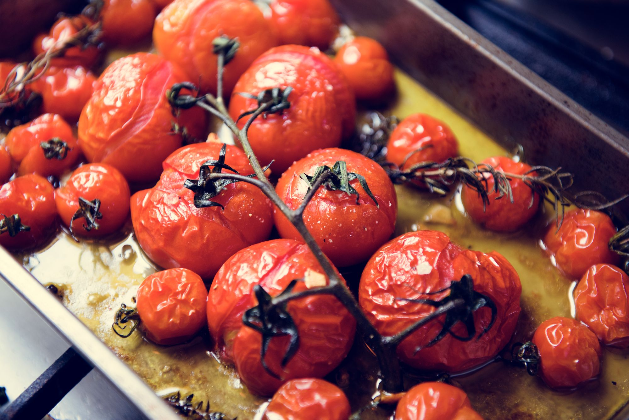 Roasted Balsamic and Chilli Tomatoes Side