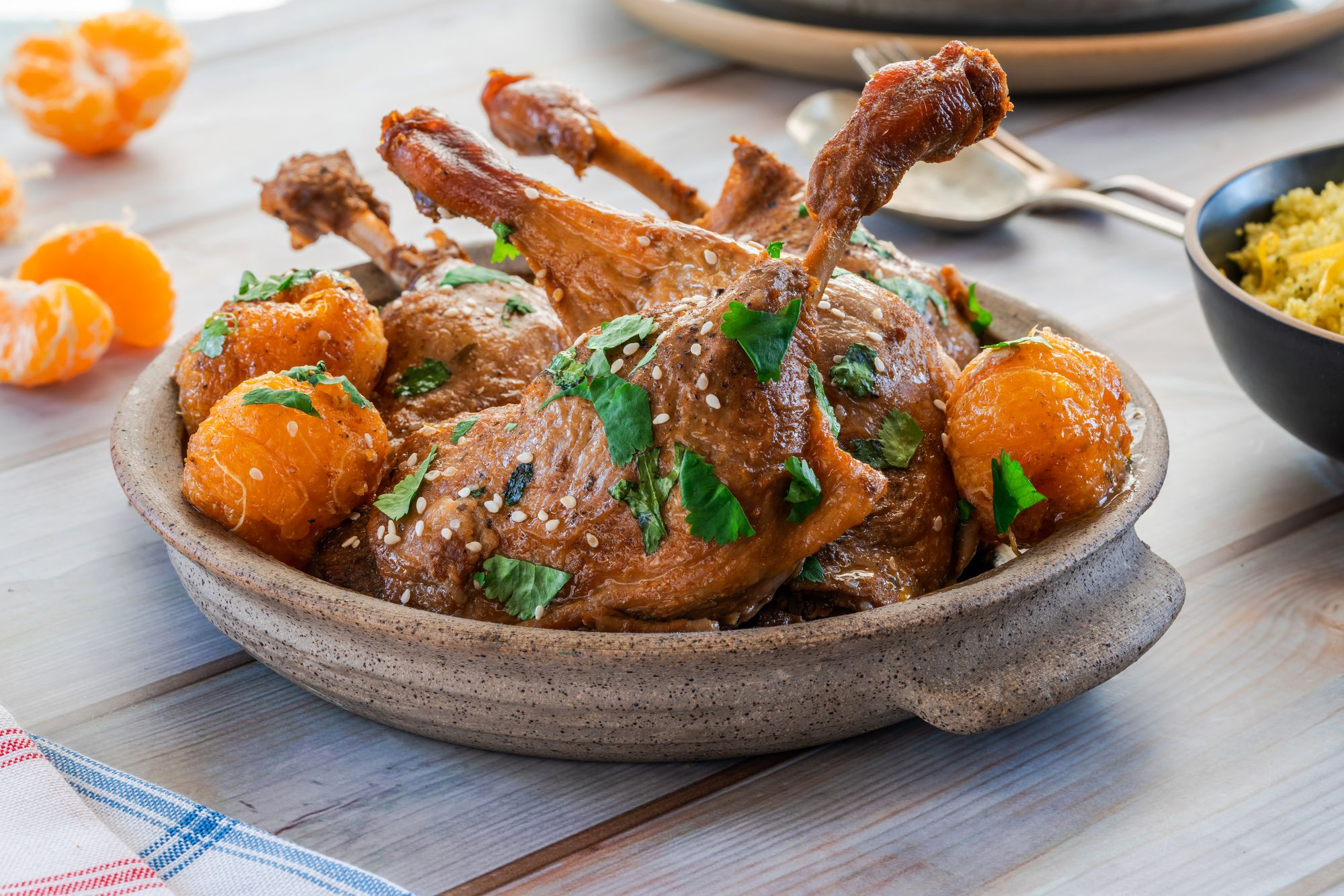Duck and Clementine Tagine