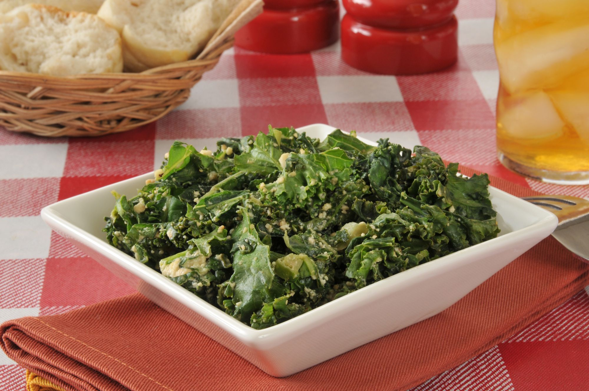 Sweet 'n' Sour Kale with Anchovies Salad