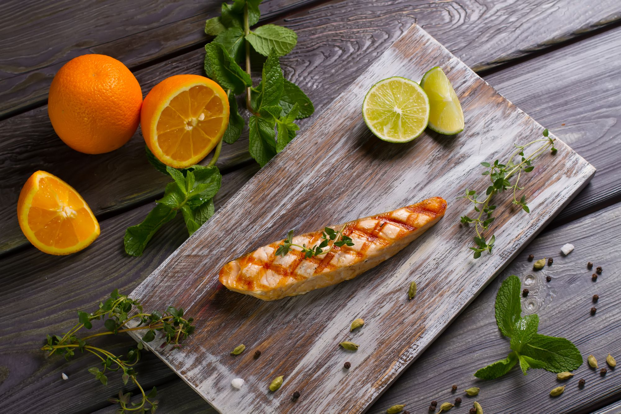 Crispy Herb-dressed Salmon