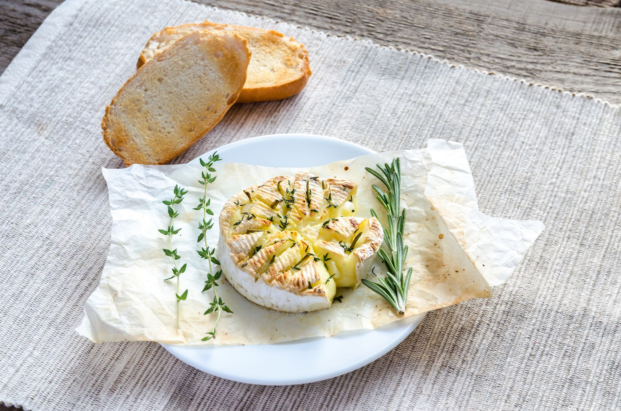 Baked Cheese with Thyme