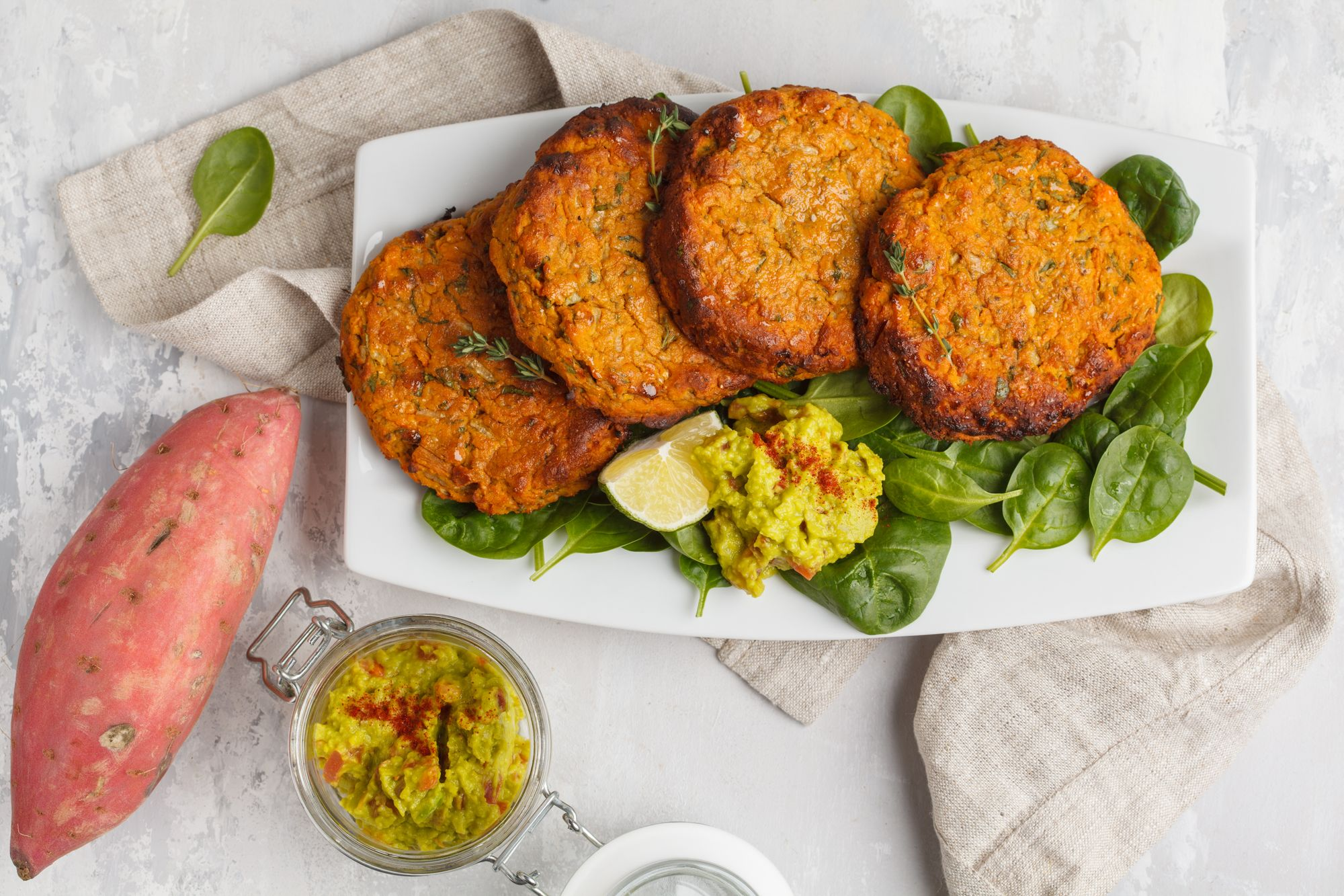 Smoky Sweet Potato and Bean Cakes