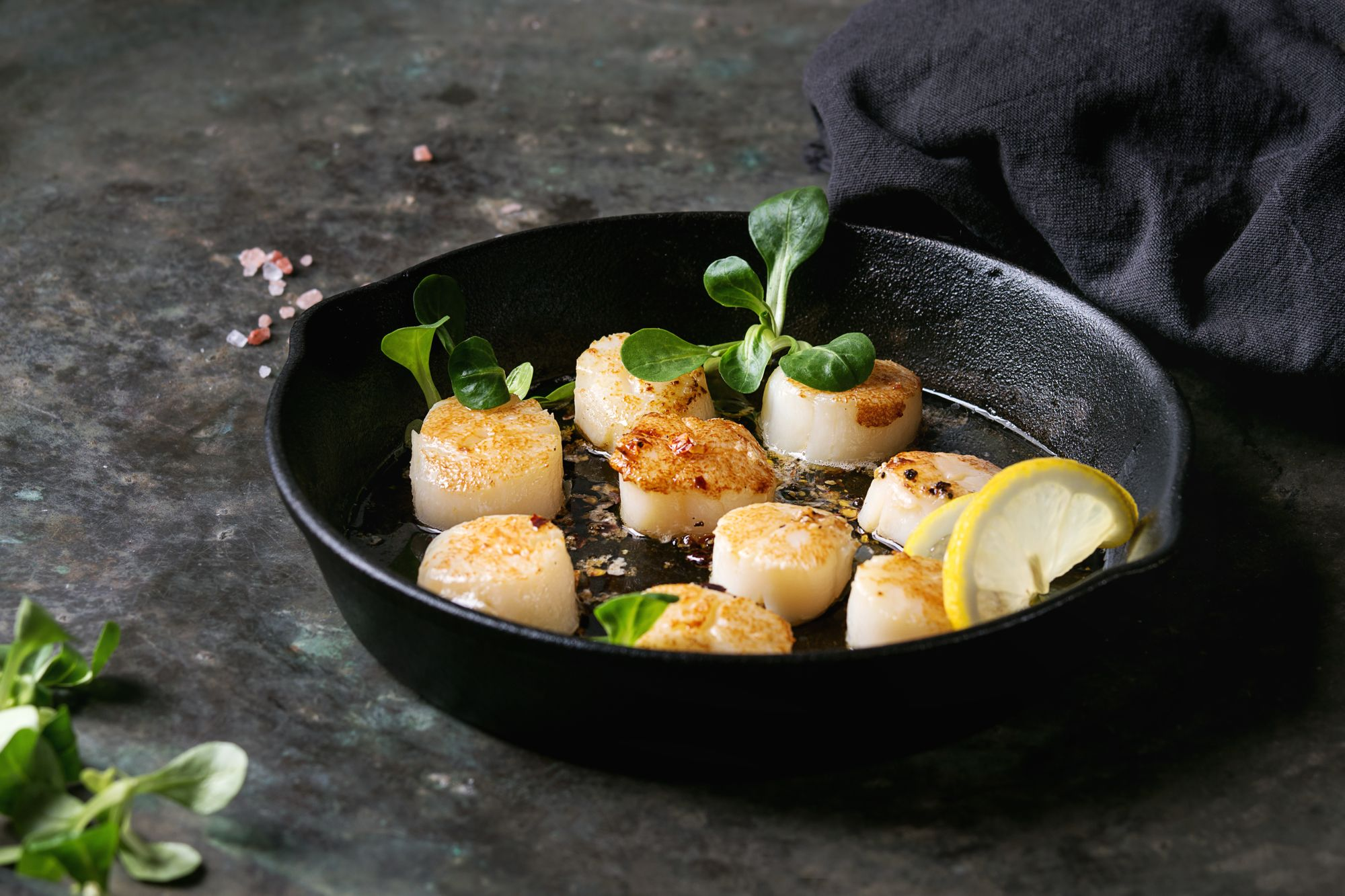 Hazelnut Butter Scallops