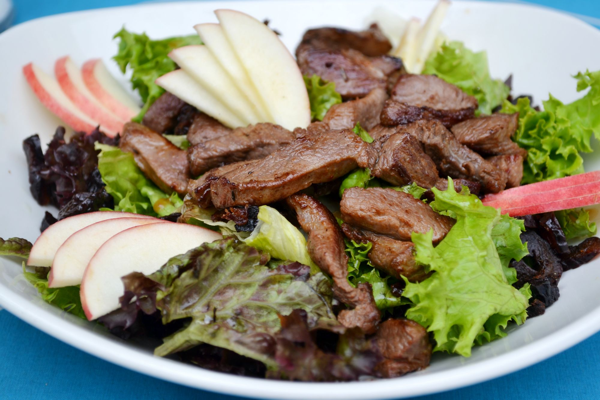 Griddled Pork and Apple Salad