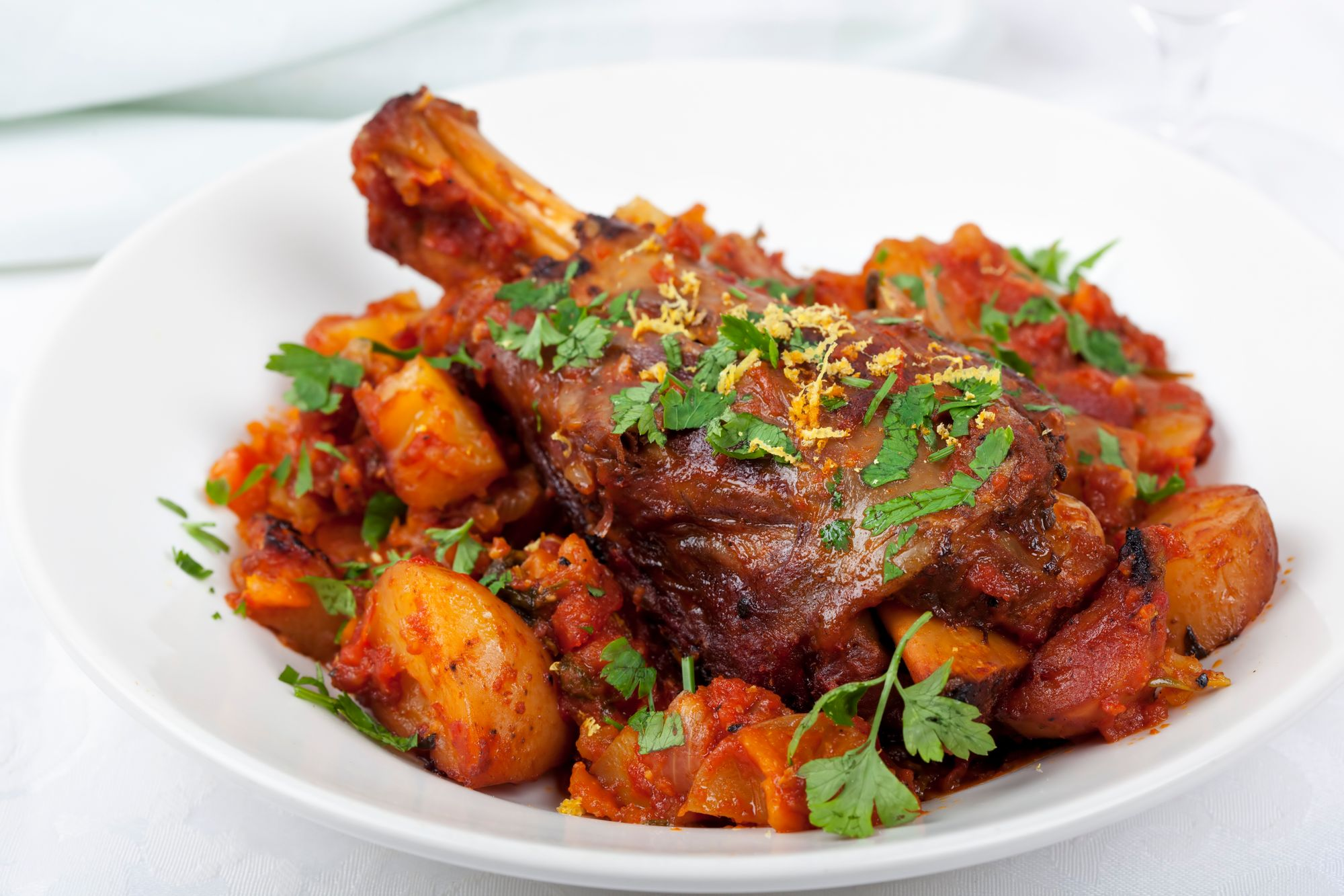 Spiced Lamb with Apricot Gravy