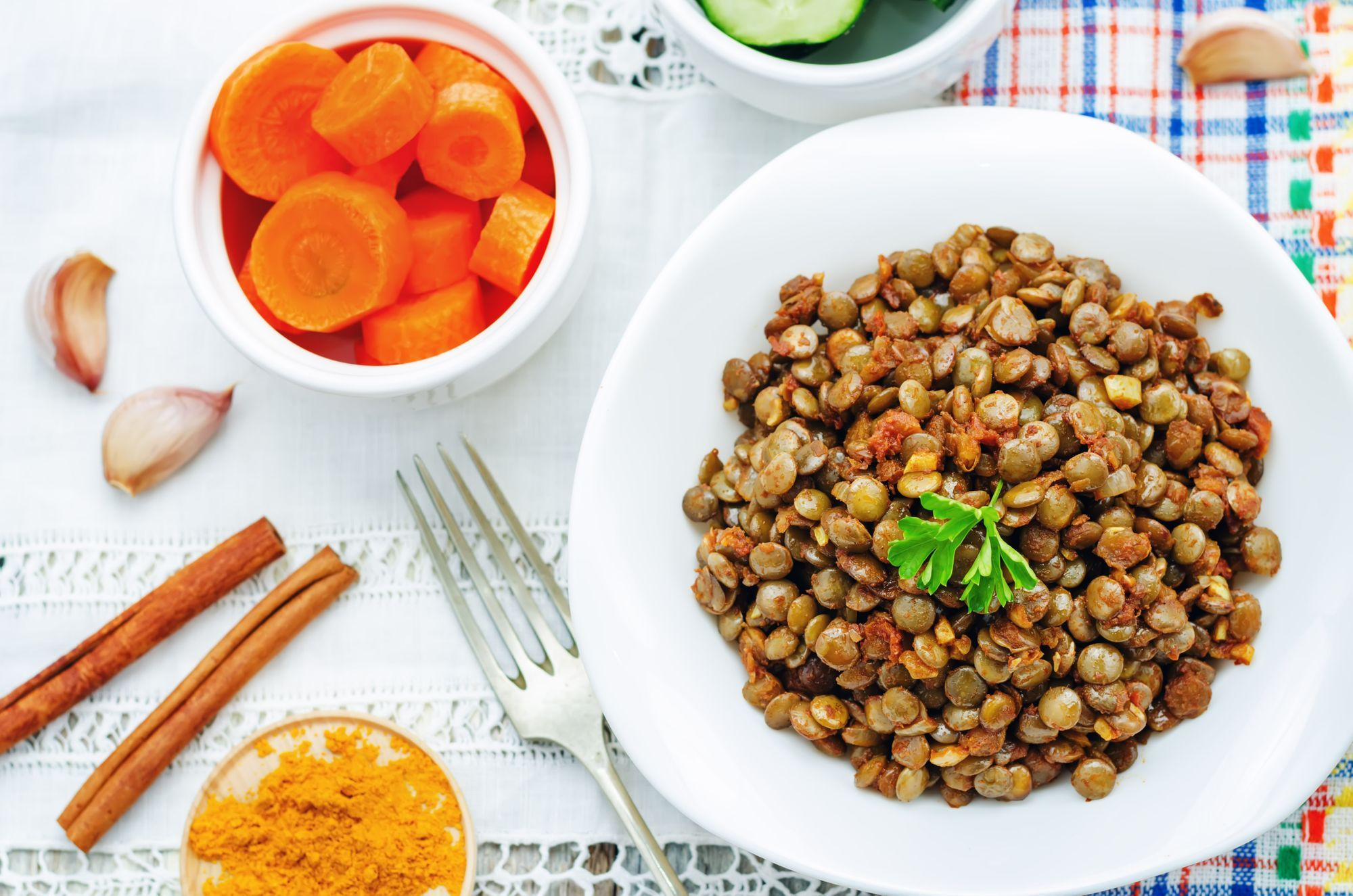 Lentil and Sausage Salad