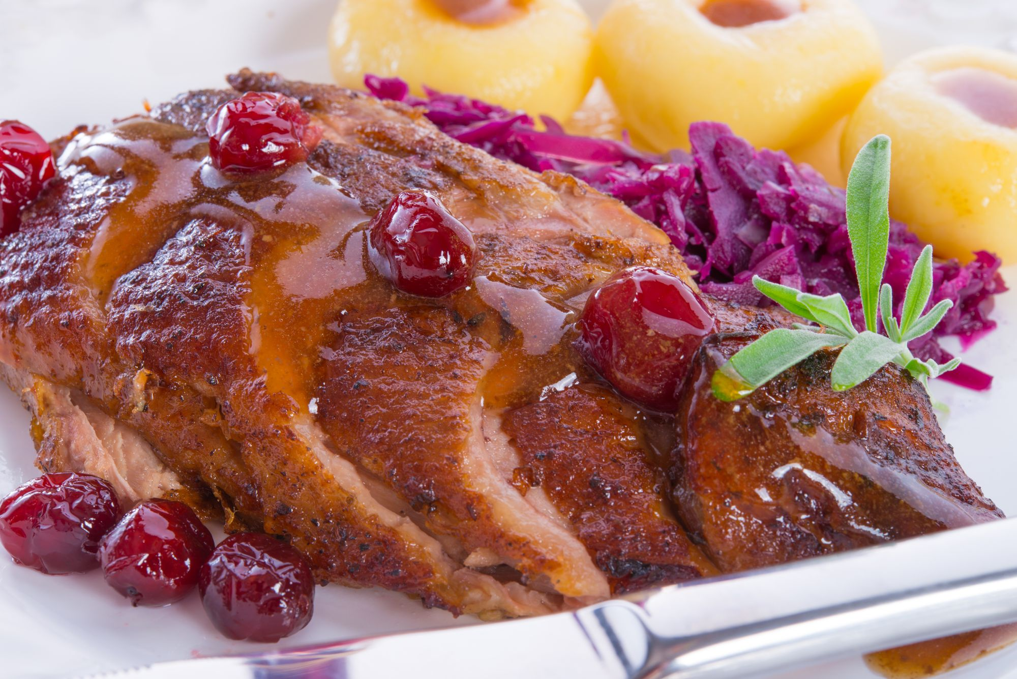 Classic Duck Breast in Berry and Wine Sauce