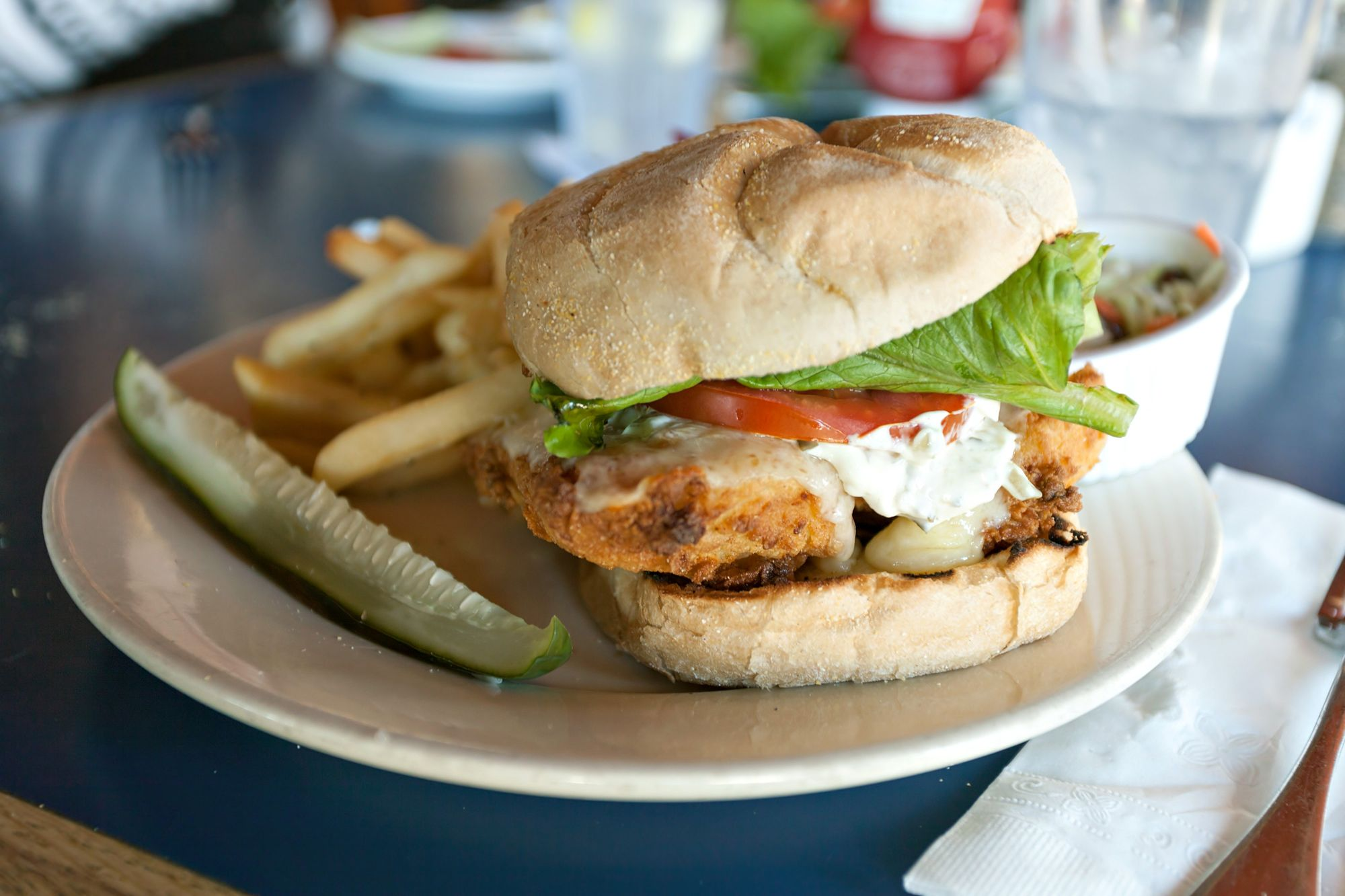 Curried Cod Burger