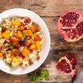 Quinoa, Prune, Squash and Pomegranate Stew
