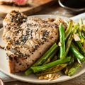 Peppercorn Tuna with Ginger Dressing