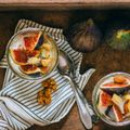 Ricotta with Baked Figs and Nuts