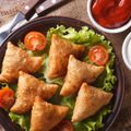 Turkey and Spinach Samosas