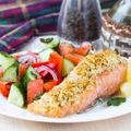 Salmon with Horseradish Crust